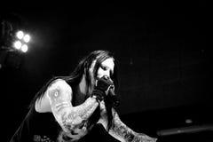 Hard rock - superstar ostinato Fotografia Stock Libera da Diritti