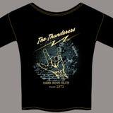 Hard rock t-shirt template Stock Photography