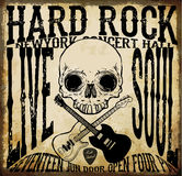 Hard rock Vector Acoustic Guitar Icon Royalty Free Stock Photography