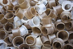 Hard roll plastic background. Royalty Free Stock Photos