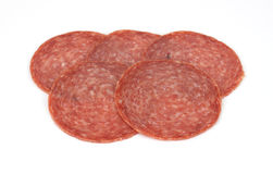 Hard salami Royalty Free Stock Photos