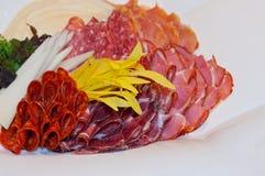 Hard salami appetizer Stock Photography