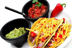 Hard Shell Taco's Stock Image