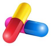 Hard-shelled capsules Stock Image