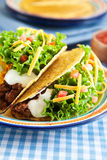 Hard Shelled Taco Stock Photo