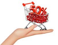 Hard with shopping cart Stock Photos