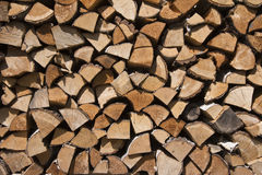 Hard and soft mix choping wood wall background Stock Images