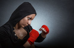 Hard sport woman Royalty Free Stock Photo