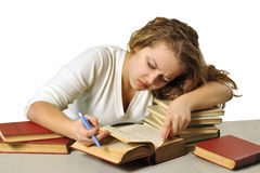 hard studying Stock Photo