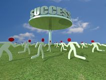 Hard success stock photo
