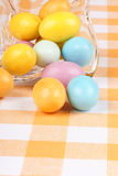 Hard sugar coated chocolate eggs Royalty Free Stock Images