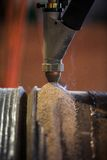 Hard surfacing by submerge arc welding process Stock Photography