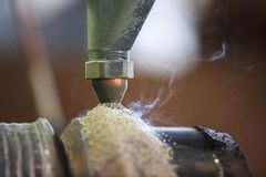 Hard surfacing by submerge arc welding process Royalty Free Stock Photo