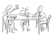 Hard talks. Vector sketchy illustration Royalty Free Stock Photos