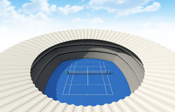Hard Tennis Court In The Day Stock Images