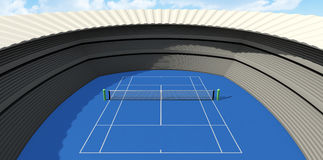 Hard Tennis Court In The Day Royalty Free Stock Image