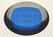 Hard Tennis Court In The Day Stock Photo