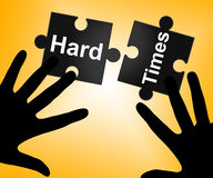 Hard Times Indicates Overcome Obstacles And Challenge. Hard Times Showing Overcome Obstacles And Problems Stock Photo
