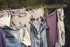 Hard Times Wash Day Stock Photography