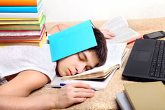 Hard Tired Student Stock Photo