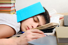 Hard Tired Student Royalty Free Stock Image