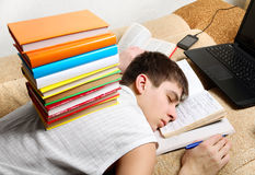 Hard Tired Student Royalty Free Stock Photography