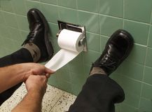 Hard toilet. royalty-vrije stock afbeelding