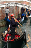 Hard traffic at Venice canals,Italy Royalty Free Stock Image