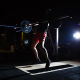 Hard training. In the gym Royalty Free Stock Photo