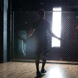 Hard training. In the gym Royalty Free Stock Images