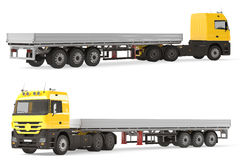 Hard truck aluminum cargo trailer. Stock Photos