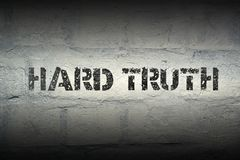 Hard truth gr royalty free stock photo