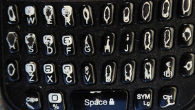 Hard used keyboard. Picture of a Hard used keyboard on a cell phone Royalty Free Stock Photos