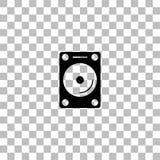 Hard vlak aandrijvingspictogram vector illustratie