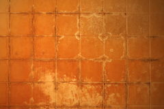 Hard water stained fiberglass tile Stock Photo