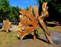 Hard wood art Stock Images