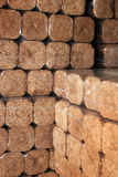 Hard wood briks for cold winter. Royalty Free Stock Photography
