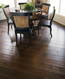 Hard wood flooring in dining are
