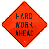 Hard Work Ahead royalty free stock image