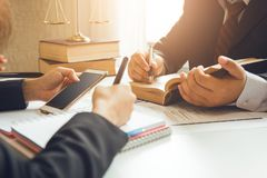 The hard work of an asian lawyer Stock Image