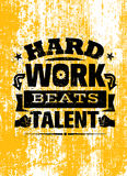 Hard Work Beats TalenT Creative Motivation Quote. Vector Typography Poster Concept Royalty Free Stock Photo