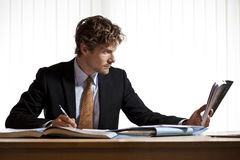 Hard at work businessman Stock Photos