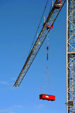 Hard Work - Concept. New and clean crane - Hard work concept Stock Image