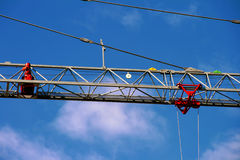 Hard Work - Concept. New and clean crane - Hard work concept Royalty Free Stock Photography