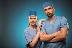 Hard work of doctors Stock Image