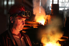 Hard work in a foundry Stock Photo