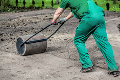 Hard work in garden Royalty Free Stock Photo