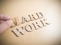 Hard Work Hardwork, Motivational Words Quotes Concept. Hard Work Hardwork, business motivational inspirational quotes, wooden words typography lettering concept stock photo