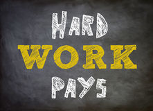 Hard work pays Royalty Free Stock Image