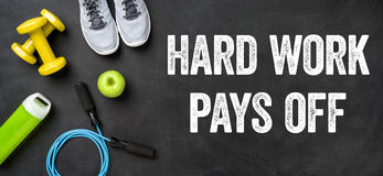 Hard work pays off Royalty Free Stock Photos
